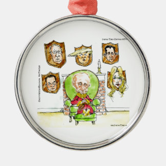 Putin The Hunter Gets Not My President Trump Metal Ornament