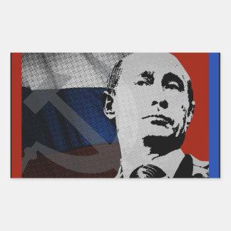 Putin with Russian Flag Sticker