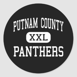 Putnam County - Panthers - High - Granville Classic Round Sticker