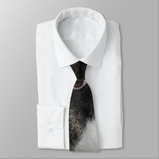 Puts on a tie has to personalize