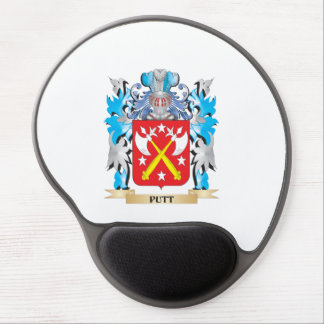Putt Coat of Arms - Family Crest Gel Mouse Pad