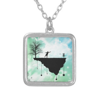 Putt Plastic In Its Place Silver Plated Necklace
