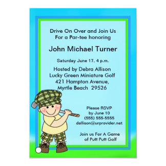 Putt Putt Golf Birthday Invitation
