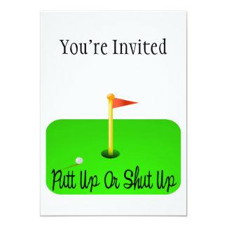 Putt Up Or Shut Up Golf Card