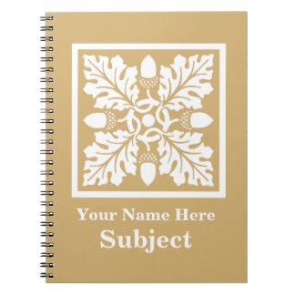Putty Acorn and Leaf Tile Design Notebooks