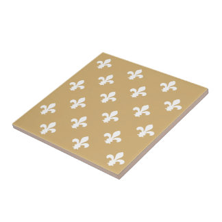 Putty Neutral Fleur de Lys Tile