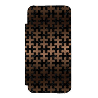 PUZ1 BK-MRBL BZ-MTL INCIPIO WATSON™ iPhone 5 WALLET CASE