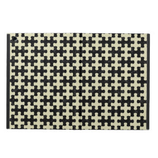 PUZZLE1 BLACK MARBLE & BEIGE LINEN CASE FOR iPad AIR