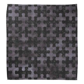 PUZZLE1 BLACK MARBLE & BLACK WATERCOLOR BANDANA