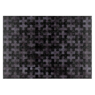 PUZZLE1 BLACK MARBLE & BLACK WATERCOLOR CUTTING BOARD