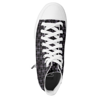 PUZZLE1 BLACK MARBLE & BLACK WATERCOLOR HIGH TOPS