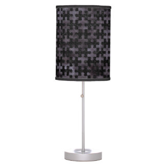 PUZZLE1 BLACK MARBLE & BLACK WATERCOLOR TABLE LAMP