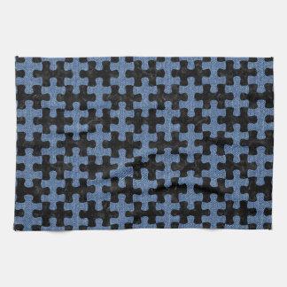 PUZZLE1 BLACK MARBLE & BLUE DENIM KITCHEN TOWEL