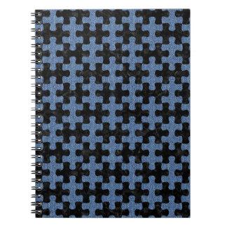 PUZZLE1 BLACK MARBLE & BLUE DENIM NOTEBOOKS