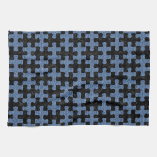 PUZZLE1 BLACK MARBLE & BLUE DENIM TOWELS
