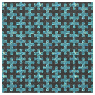 PUZZLE1 BLACK MARBLE & BLUE-GREEN WATER FABRIC