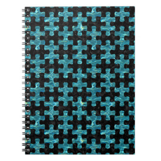 PUZZLE1 BLACK MARBLE & BLUE-GREEN WATER NOTEBOOK