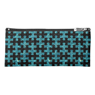 PUZZLE1 BLACK MARBLE & BLUE-GREEN WATER PENCIL CASE