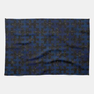 PUZZLE1 BLACK MARBLE & BLUE GRUNGE HAND TOWEL
