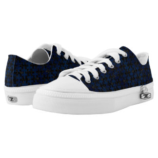 PUZZLE1 BLACK MARBLE & BLUE GRUNGE Low-Top SNEAKERS