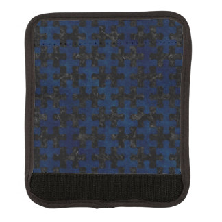 PUZZLE1 BLACK MARBLE & BLUE GRUNGE LUGGAGE HANDLE WRAP