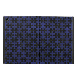 PUZZLE1 BLACK MARBLE & BLUE LEATHER COVER FOR iPad AIR