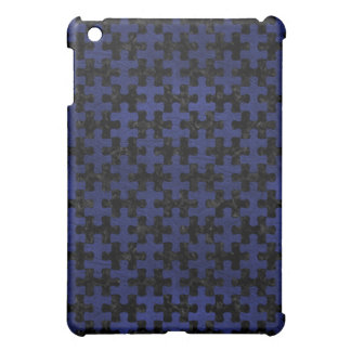 PUZZLE1 BLACK MARBLE & BLUE LEATHER COVER FOR THE iPad MINI