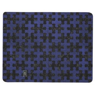 PUZZLE1 BLACK MARBLE & BLUE LEATHER JOURNAL