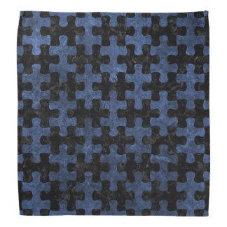 PUZZLE1 BLACK MARBLE & BLUE STONE BANDANA