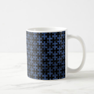 PUZZLE1 BLACK MARBLE & BLUE STONE COFFEE MUG