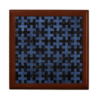 PUZZLE1 BLACK MARBLE & BLUE STONE GIFT BOX