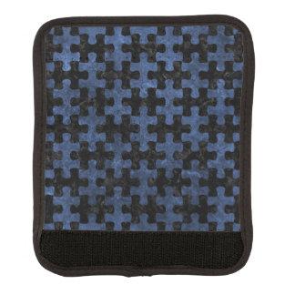 PUZZLE1 BLACK MARBLE & BLUE STONE LUGGAGE HANDLE WRAP
