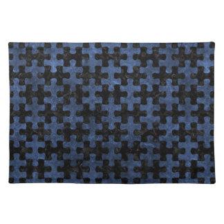 PUZZLE1 BLACK MARBLE & BLUE STONE PLACEMAT