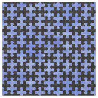 PUZZLE1 BLACK MARBLE & BLUE WATERCOLOR FABRIC