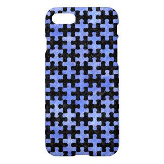 PUZZLE1 BLACK MARBLE & BLUE WATERCOLOR iPhone 8/7 CASE