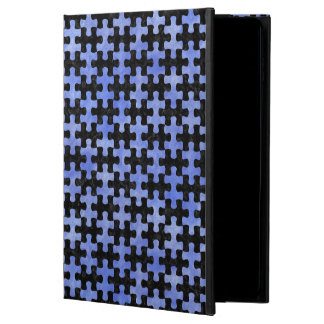 PUZZLE1 BLACK MARBLE & BLUE WATERCOLOR POWIS iPad AIR 2 CASE