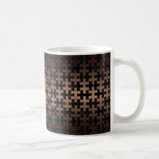 PUZZLE1 BLACK MARBLE & BRONZE METAL COFFEE MUG