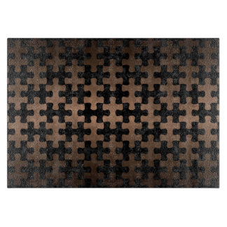 PUZZLE1 BLACK MARBLE & BRONZE METAL CUTTING BOARD