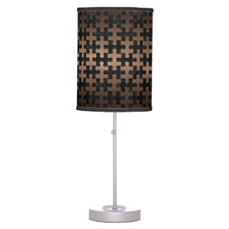 PUZZLE1 BLACK MARBLE & BRONZE METAL TABLE LAMP