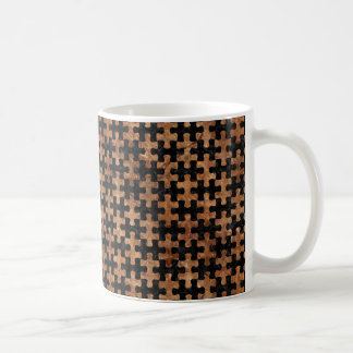 PUZZLE1 BLACK MARBLE & BROWN STONE COFFEE MUG
