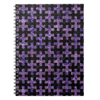 PUZZLE1 BLACK MARBLE & PURPLE MARBLE NOTEBOOK