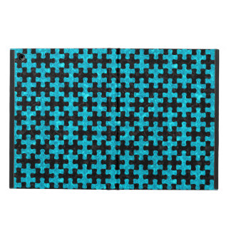 PUZZLE1 BLACK MARBLE & TURQUOISE MARBLE CASE FOR iPad AIR