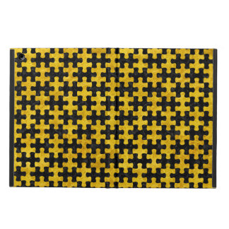PUZZLE1 BLACK MARBLE & YELLOW MARBLE COVER FOR iPad AIR