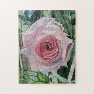 """Puzzle, 11x14 with """"Romantic Rose"""" by Amber Larsen Jigsaw Puzzle"""
