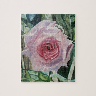 """Puzzle, 8x10 """"Romantic Rose"""" by Amber Larsen Jigsaw Puzzle"""