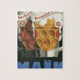 Puzzle affiche française originale 1929 d'art déco de