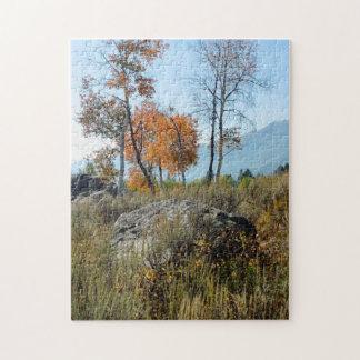 Puzzle, Autumn colors, Grand Teton National Park Jigsaw Puzzle