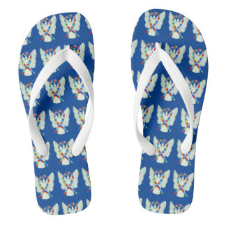 Puzzle Awareness Ribbon Angel Custom Flip Flops