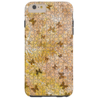 Puzzle Butterflies and Daisies-Browns by STaylor Tough iPhone 6 Plus Case