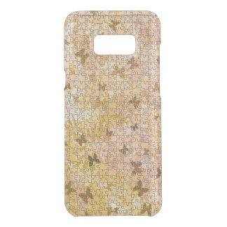 Puzzle Butterflies and Daisies-Browns by STaylor Uncommon Samsung Galaxy S8 Plus Case